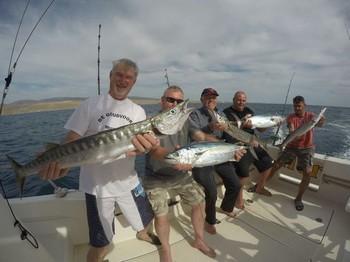 Congratulations - Satisfied anglers on board of the Cavalier Cavalier & Blue Marlin Sport Fishing Gran Canaria