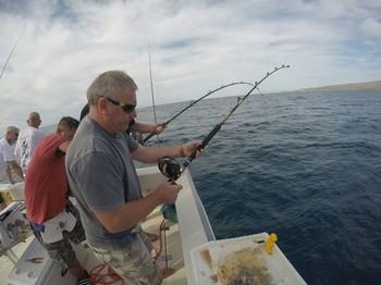Nigel Hunt from Wales hooked up Cavalier & Blue Marlin Sport Fishing Gran Canaria
