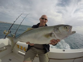 Blue fish - Bob van Dongen from Holland caught this large Blue fish Cavalier & Blue Marlin Sport Fishing Gran Canaria