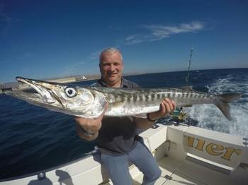 Barracuda - André van der Heijden caught this Barracuda onboard of the boat Cavalier Cavalier & Blue Marlin Sport Fishing Gran Canaria