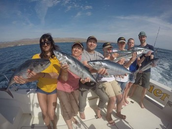 Great Catch - Satisfied anglers on board of the Cavalier Cavalier & Blue Marlin Sport Fishing Gran Canaria
