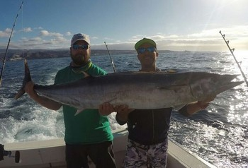 30 kg Wahoo caught by Marco from Germany Cavalier & Blue Marlin Sport Fishing Gran Canaria