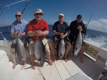 Albacore Tuna - Beautiful catch for these 4 anglers Cavalier & Blue Marlin Sport Fishing Gran Canaria