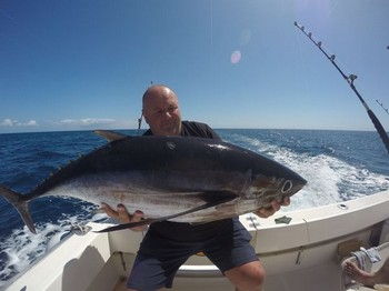 Albacore caught by Dick Bakker from Holland Cavalier & Blue Marlin Sport Fishing Gran Canaria