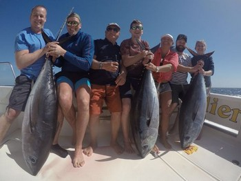 3 Big Eye Tuna caught on the boat Cavalier Cavalier & Blue Marlin Sport Fishing Gran Canaria