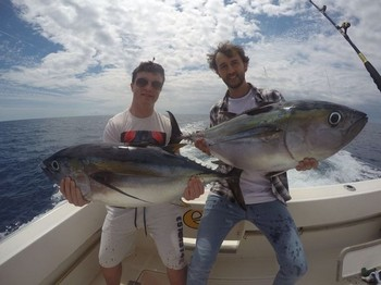 2 happy anglers - Zach O'Reilly from Ireland & Patrick Pieger from Luxembourg Cavalier & Blue Marlin Sport Fishing Gran Canaria