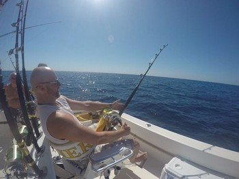Hooked up with a Bluefin Tuna Cavalier & Blue Marlin Sport Fishing Gran Canaria