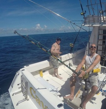 Matthew from Sweden fighting his Bluefin Tuna Cavalier & Blue Marlin Sport Fishing Gran Canaria