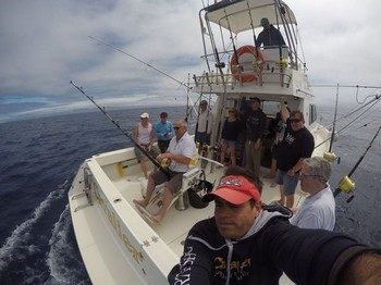 The fight - Cees Pipping on the Cavalier Cavalier & Blue Marlin Sport Fishing Gran Canaria