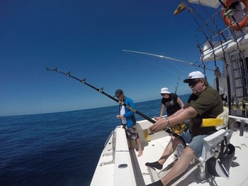 Hooked Up - Happy Anglers on the boat Cavalier Cavalier & Blue Marlin Sport Fishing Gran Canaria