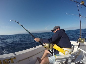 Hooked Up - Alex Jerominos hooked up Cavalier & Blue Marlin Sport Fishing Gran Canaria