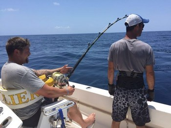 Hooked Up - James Hopkins is fighting his 320 kg Bluefin Tuna Cavalier & Blue Marlin Sport Fishing Gran Canaria