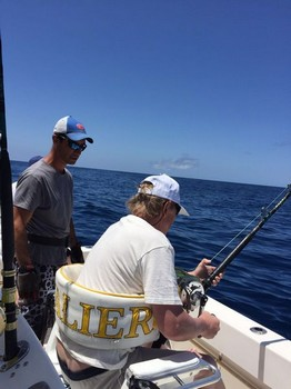 Hooked up - Rolf Gustke from Germany Cavalier & Blue Marlin Sport Fishing Gran Canaria