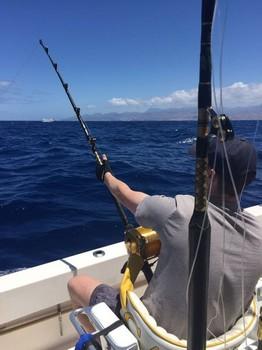 Hooked Up - Jos van Loo is fighting his 200 kg  Blue Marlin Cavalier & Blue Marlin Sport Fishing Gran Canaria