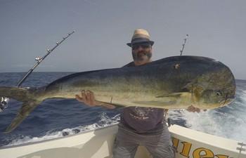 27 kg Dorado caught by Jog Gregory from the UK Cavalier & Blue Marlin Sport Fishing Gran Canaria