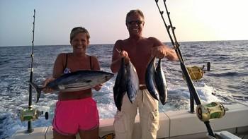 Skipjack Tuna - Rune & Merete from Norway Cavalier & Blue Marlin Sport Fishing Gran Canaria
