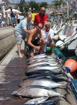 Alabcores - Gran pesca de Albacores Pesca Deportiva Cavalier & Blue Marlin Gran Canaria