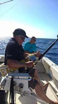 Hooked Up - Howard hooked up with a Blue Marlin Cavalier & Blue Marlin Sport Fishing Gran Canaria