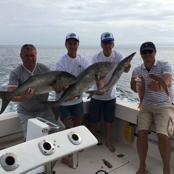 Well done - Satisfied fishermen on the boat Cavalier Cavalier & Blue Marlin Sport Fishing Gran Canaria