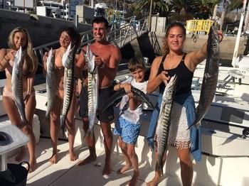 Pescadores satisfechos Pesca Deportiva Cavalier & Blue Marlin Gran Canaria