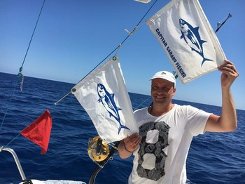 Congratulations, well done ! Pascal Wetsels from Holland Cavalier & Blue Marlin Sport Fishing Gran Canaria