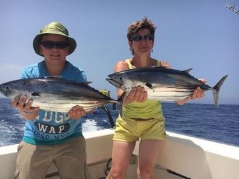 Skipjack Tuna - Ilona Ostermann & Max Schäfer from Germany Cavalier & Blue Marlin Sport Fishing Gran Canaria