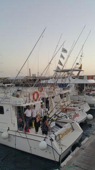 Satisfied Anglers - Satisfied anglers on the boat Cavalier Cavalier & Blue Marlin Sport Fishing Gran Canaria