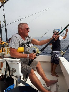 Hooked up by Luc Destuyver from Belgium Cavalier & Blue Marlin Sport Fishing Gran Canaria