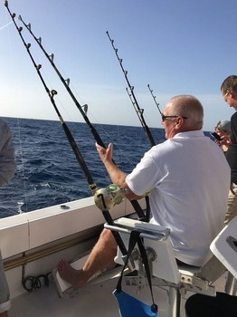 Hooked Up - Cees Pipping fighting a Tuna Cavalier & Blue Marlin Sport Fishing Gran Canaria