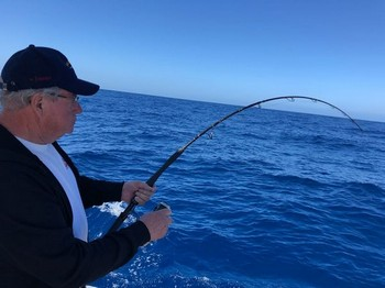 Hooked Up on light tackle. Super......! Cavalier & Blue Marlin Sport Fishing Gran Canaria