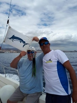 Congratulations with the 1st Blue Marlin release of 2018 Cavalier & Blue Marlin Sport Fishing Gran Canaria
