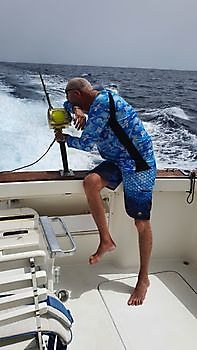 Eric wasn't happy that he had lost his fish. Cavalier & Blue Marlin Sport Fishing Gran Canaria