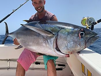 85 kg storögd tonfisk Cavalier & Blue Marlin Sport Fishing Gran Canaria