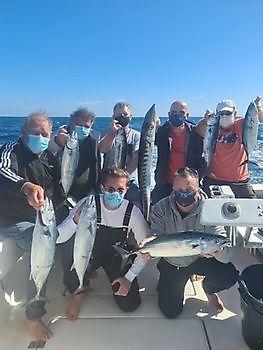 Lichte wind, zonnig en 26 graden Cavalier & Blue Marlin Sport Fishing Gran Canaria