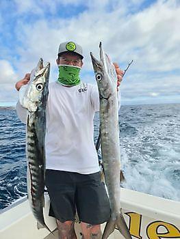 2 big Barracudas Cavalier & Blue Marlin Sport Fishing Gran Canaria